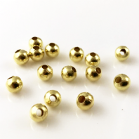 500 Gold  plated round spacer beads 3mm